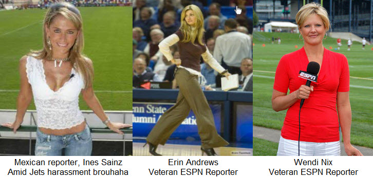 Three Female Sports Reporters, Three Outfits