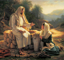 Woman at the well with Jesus