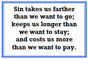 sin takes us